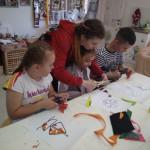 Мастер-класс по составлению мозайки из фетра для детей в клубе Шале в Измайлово в Москве
